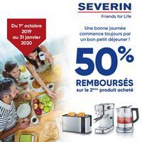 Offre de Remboursement Severin : 50% Remboursés sur le 2ème Produit Acheté
