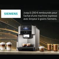 Offre de Remboursement Siemens : Jusqu'à 200 € Remboursés sur Machine Espresso + Broyeur à grains