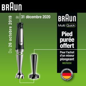 Bon Plan Braun : 1 Mixeur Plongeant Acheté = 1 Pied Purée
