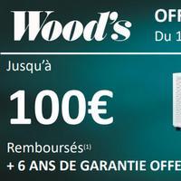 Offre de Remboursement Wood's : Jusqu'à 100€ sur Déshumidificateur d'air