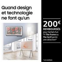 Offre de Remboursement Samsung : Jusqu'à 200€ Remboursés sur TV The Frame ou The Serif