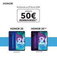 Offre de Remboursement Honor : Jusqu'à 50€ Remboursés sur Smartphone 20