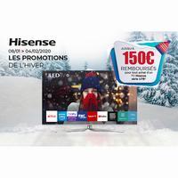 Offre de Remboursement Hisense : Jusqu'à 150€ Remboursés sur TV U7B