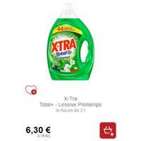 Lessive X-Tra Total+ Printemps chez Intermarché (28/01 – 02/02)
