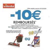 Offre de Remboursement Vileda : 10€ Remboursés en Bons sur Ultramax ou 1,2 Spray
