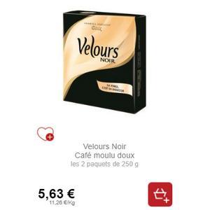 Café Moulu Velours Noir chez Intermarché (18/01 – 19/01)