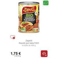 Ravioli Pur Boeuf Zapetti partout (14/01 – 10/02)