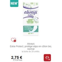 Protège-Slips Always Cotton Protection chez Intermarché (21/01 – 26/01)