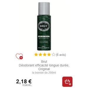 Déodorant Brut chez Intermarché (21/01 – 26/01)