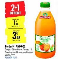 Jus de Fruits 30% moins Sucré Andros chez Carrefour (14/01 27/01)