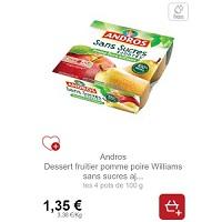 Desserts Fruitiers Andros Sans Sucres Ajoutés x4 Partout
