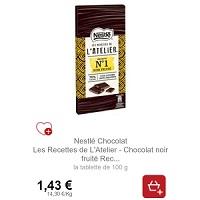 Tablette Dégustation les Recettes de l'Atelier Nestlé Partout