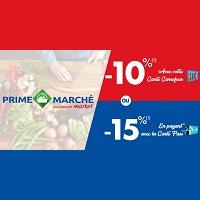 Carrefour Market : Prime Marché -10% ou -15%  sur tous les Produits des Rayons Fruits & Légumes, Boucherie, Poissonnerie, Fleurs et Plantes