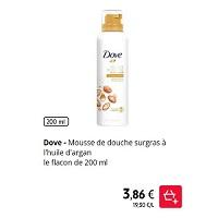 Mousse de Douche Surgras Dove chez Intermarché (21/01 – 26/01)