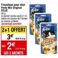 Friandises pour Chat Party Mix Felix chez Cora (28/01 – 03/02)