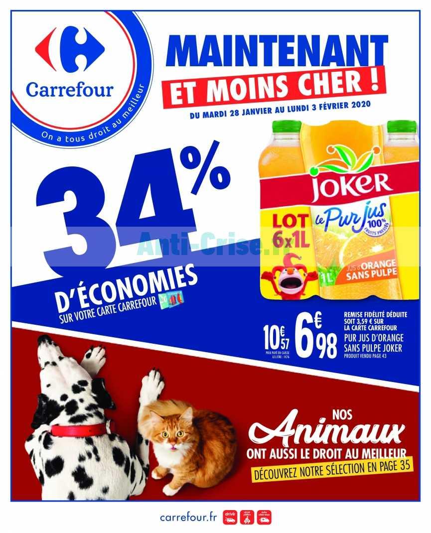 Catalogue Carrefour du 28 janvier au 03 février 2020