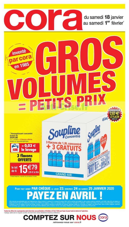 Catalogue Cora du 16 janvier au 08 février 2020 (Gros Volumes)