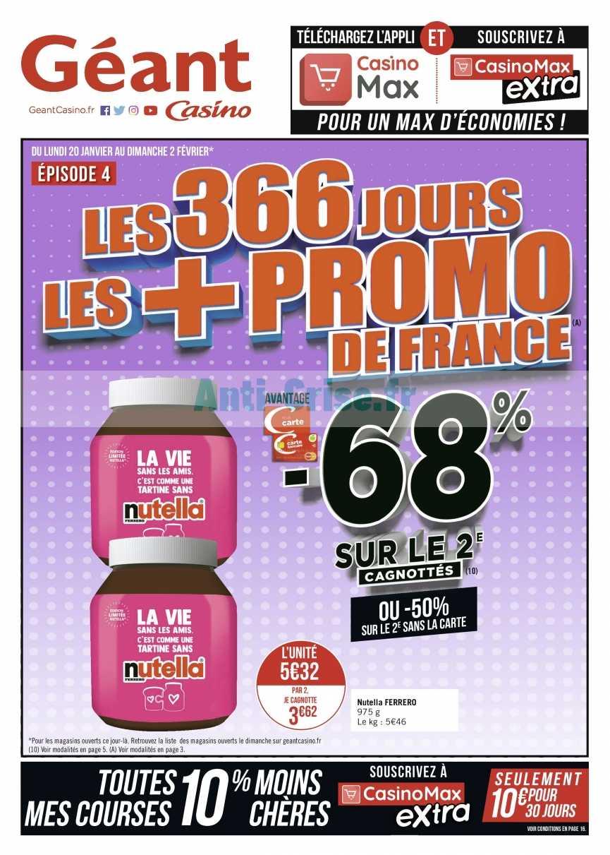 Catalogue Géant Casino du 20 janvier au 02 février 2020