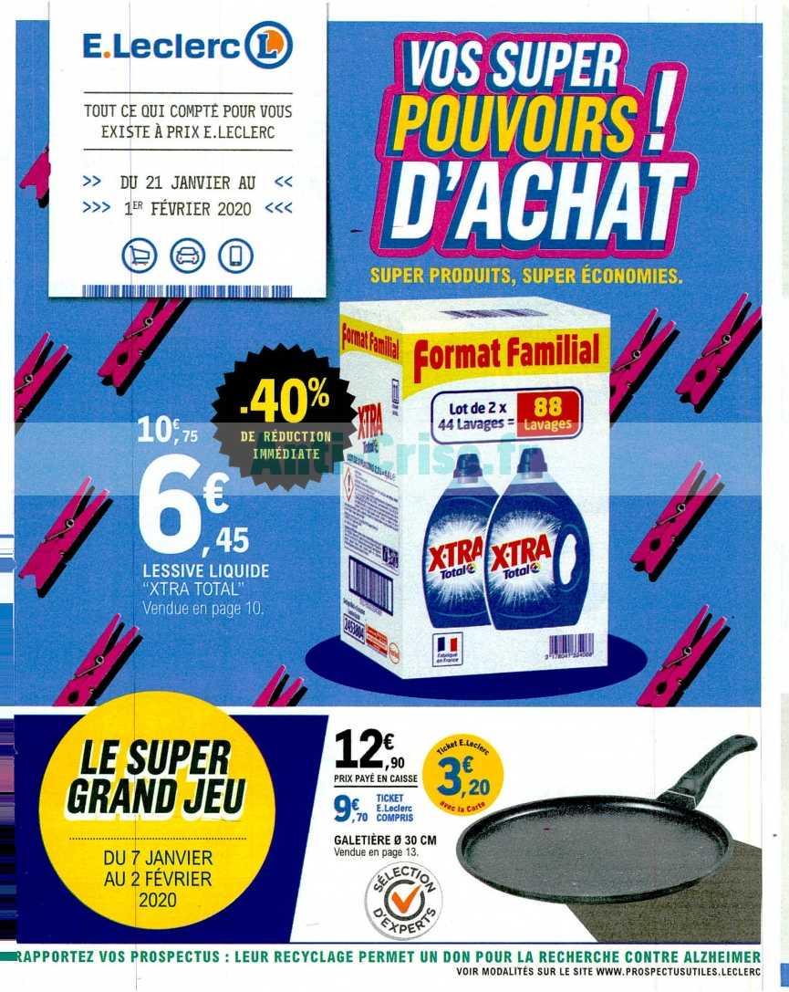 Catalogue Leclerc du 21 janvier au 01 février 2020
