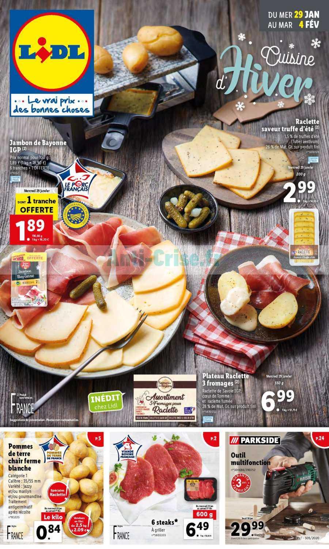 Catalogue Lidl du 29 janvier au 04 février 2020