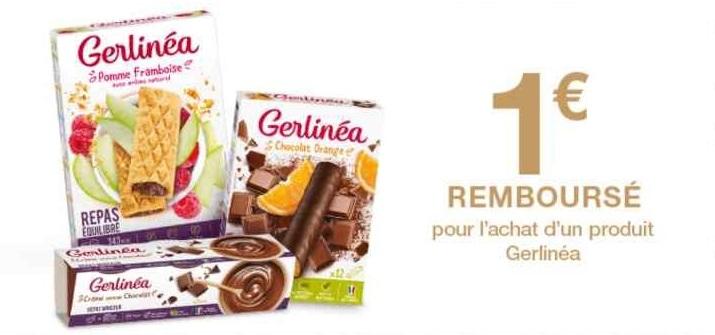 Gerlinéa : 1 € de réduction jusqu'au 22/01/2020 (Offre de ...