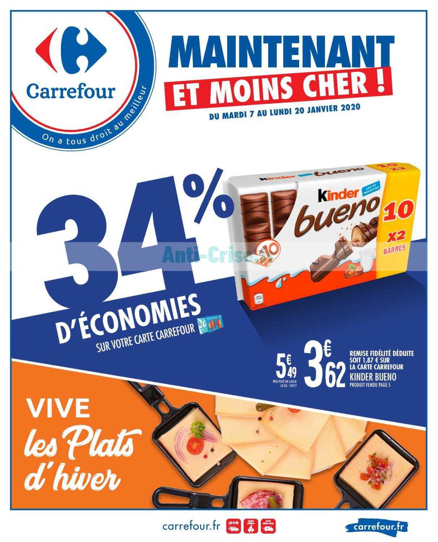 Catalogue Carrefour du 07 au 20 janvier 2020