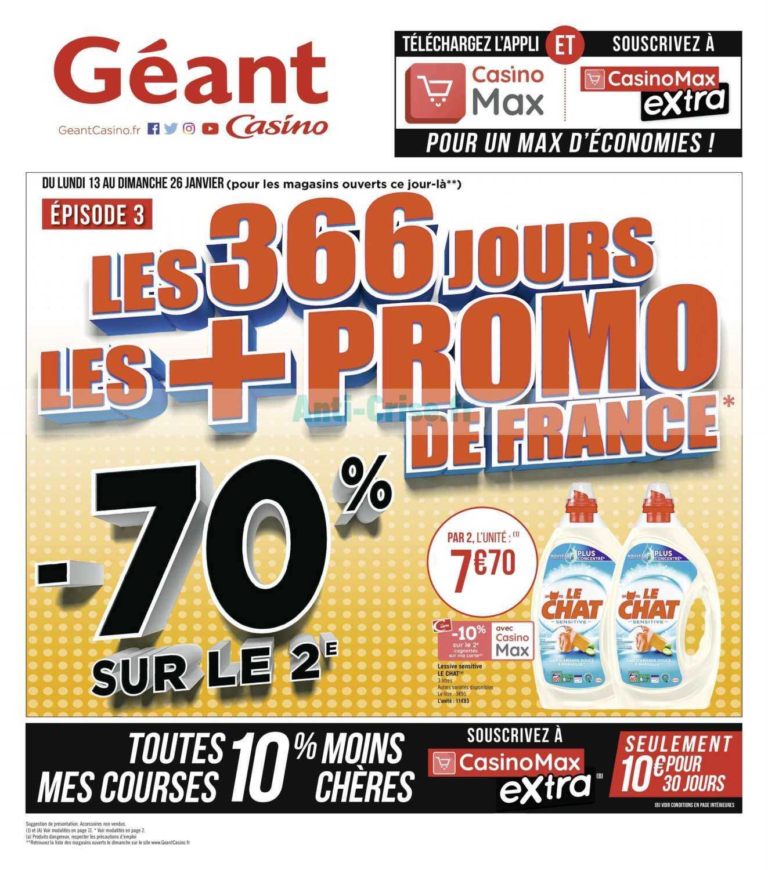 Catalogue Géant Casino du 13 au 26 janvier 2020
