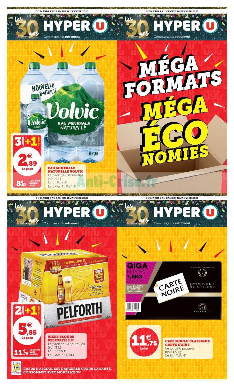 Catalogue Hyper U du 07 au 18 janvier 2020 (Méga Formats)