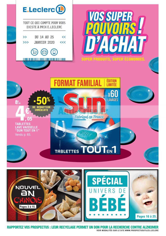 Catalogue Leclerc du 14 au 25 janvier 2020