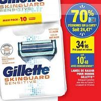 Lames de Rasoir Gillette Skinguard chez Carrefour Market (07/01 – 19/01)