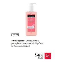 Nettoyant Visibly Clear Pamplemousse Neutrogena chez Intermarché (21/01 – 26/01)