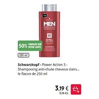 Shampoing Men Schwarzkopf chez Intermarché (21/01 – 26/01)