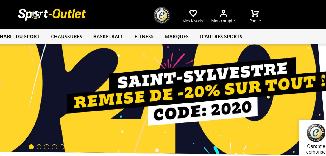 Sport Outlet code de réduction de 20% le 1er janvier