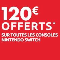 Carrefour : 120€ Offerts en Bons d'Achat pour l'Achat d'une Nintendo Switch le 20 janvier 2020