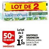 Dentifrice Vademecum chez Auchan (29/01 – 04/02)