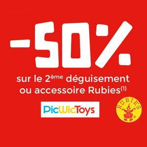 Offre de Remboursement Rubie's / PicWicToys : 50% sur le 2ème Déguisement Carnaval - anti-crise.fr