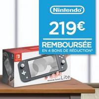 Géant Casino : Console Nintendo Switch Lite 100% Remboursée en 4 Bons