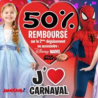 Offre de Remboursement Rubie's / Joué Club : 50% sur le 2ème Déguisement Carnaval - anti-crise.fr