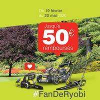 Offre de Remboursement Ryobi : Jusqu'à 50€ Remboursés sur Outil