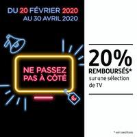 Offre de Remboursement Samsung : 20% Remboursés sur Téléviseur