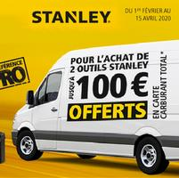 Bon Plan Stanley : Jusqu'à 100€ Offerts en Carte Carburant Total