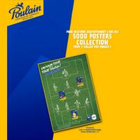 Bon Plan Poulain : Poster Collection de Foot Offert