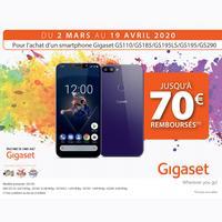 Offre de Remboursement Gigaset : Jusqu'à 70€ Remboursés sur Smartphone