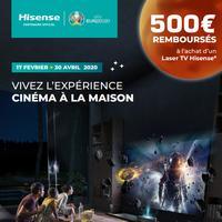Offre de Remboursement Hisense : 500€ Remboursés sur TV H80LSA