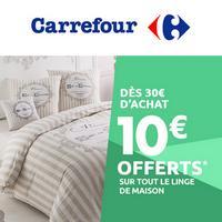 Carrefour : 10€ offerts par tranche de 30€ sur Le Linge de Maison