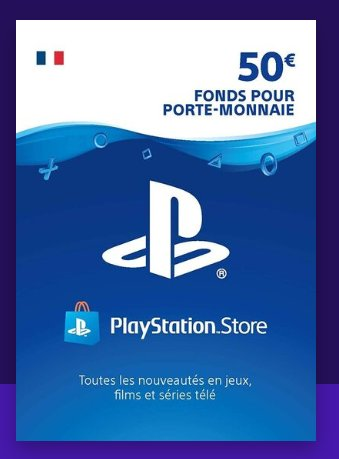 42€ la carte Playstation NetWork d'une valeur de 50€ !