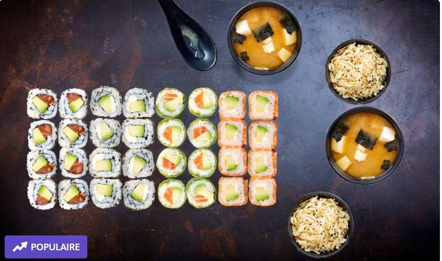 Eat Sushi : Plateau de shushi avec 50% de réduction