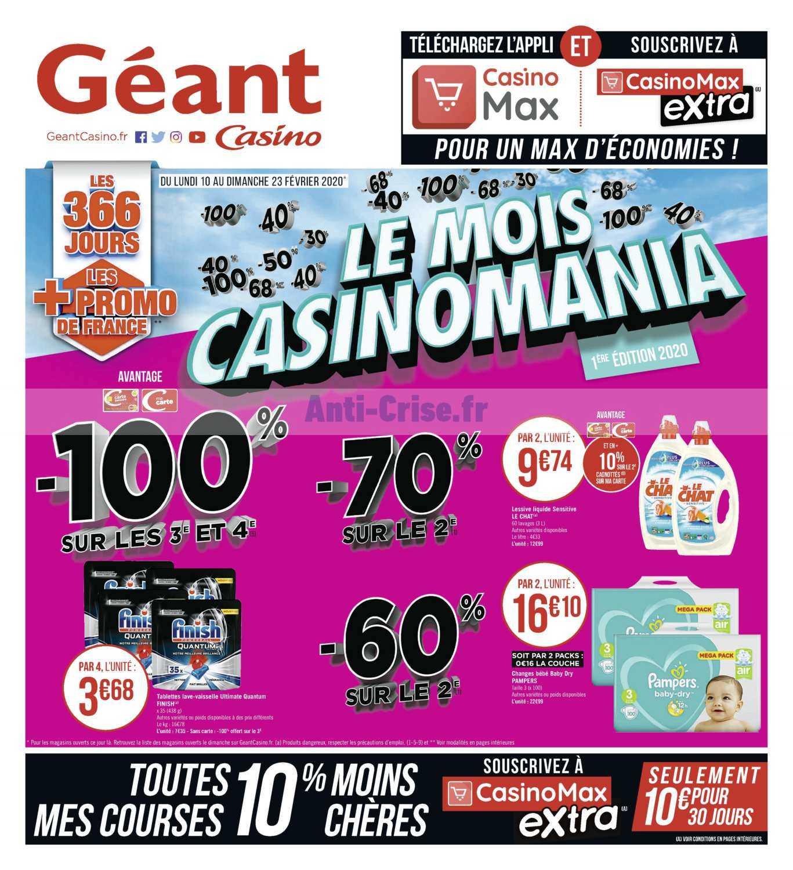Catalogue Géant Casino du 10 au 23 février 2020