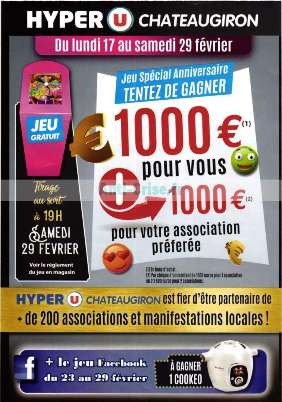 Catalogue Hyper U Du 21 Au 29 Fevrier 2020 Chateaugiron Catalogues Promos Bons Plans Economisez Anti Crise Fr