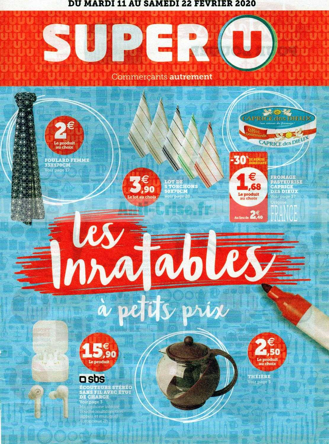 Catalogue Super U du 11 au 22 février 2020